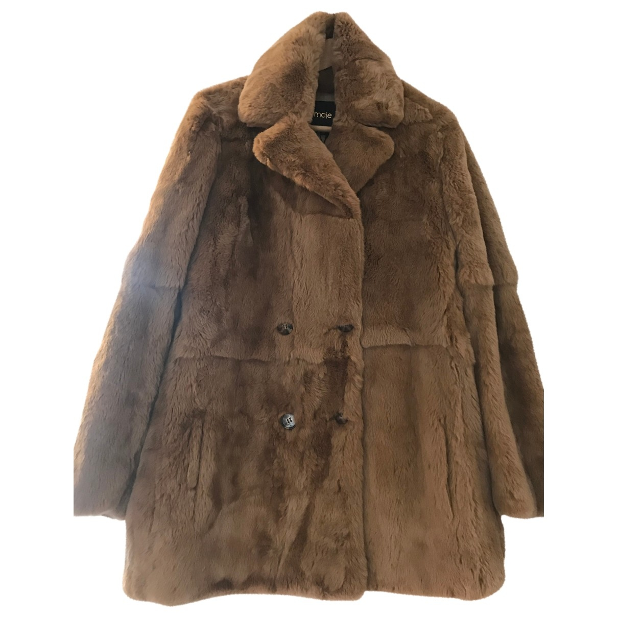Maje \N Beige Rabbit coat for Women 40 FR