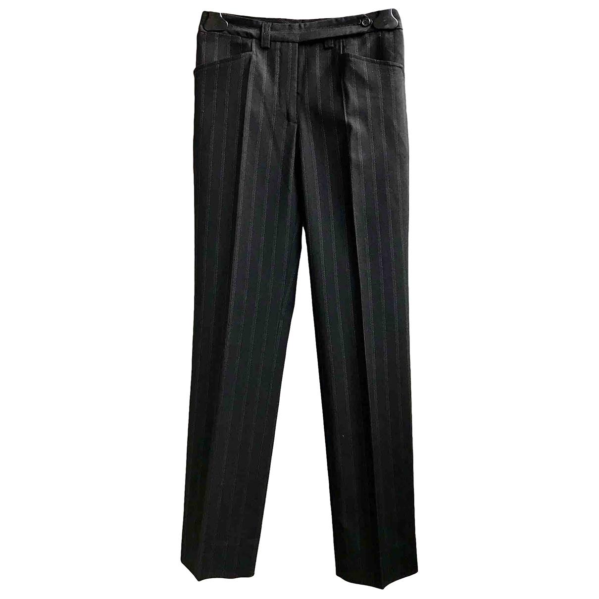 D&g \N Black Wool Trousers for Women 38 IT