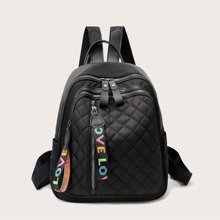 Quilted Zip Front Backpack