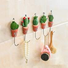 Wandhaken mit Kaktus Design