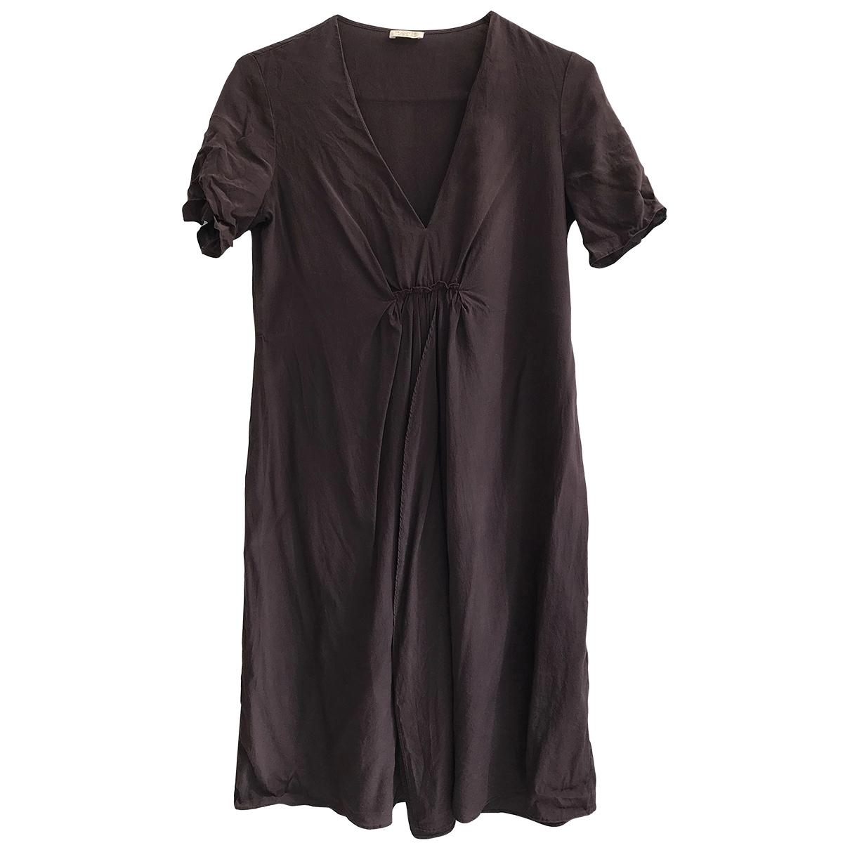 Falconeri \N Kleid in  Braun Seide