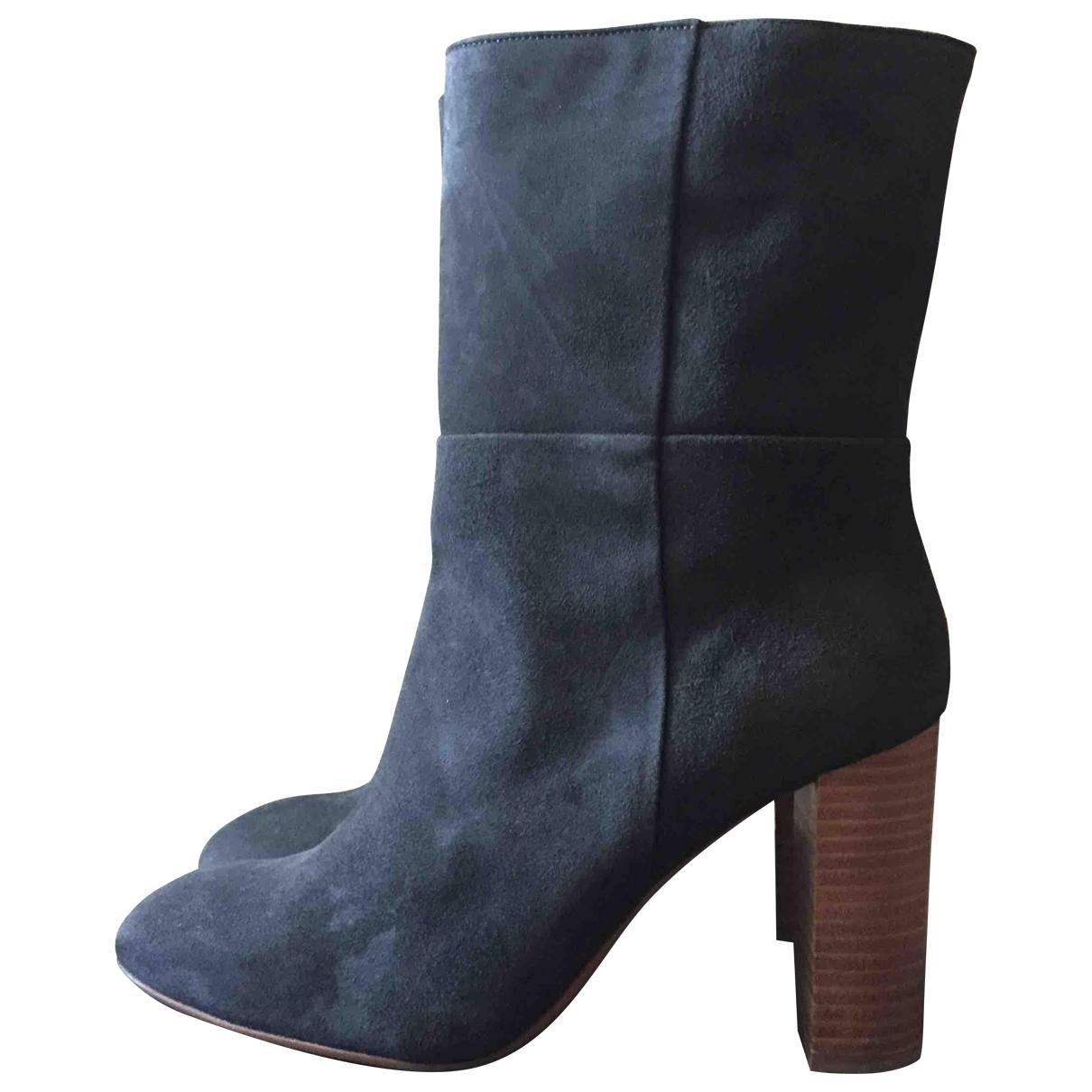 Ba&sh - Boots   pour femme en suede - gris