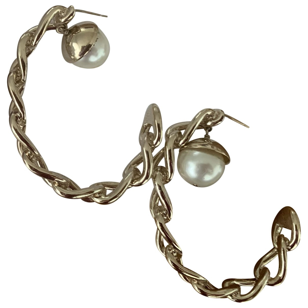 Christian Dior - Boucles doreilles   pour femme en perles - metallise