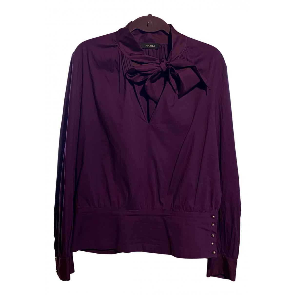 Max & Co N Purple Cotton  top for Women 44 IT
