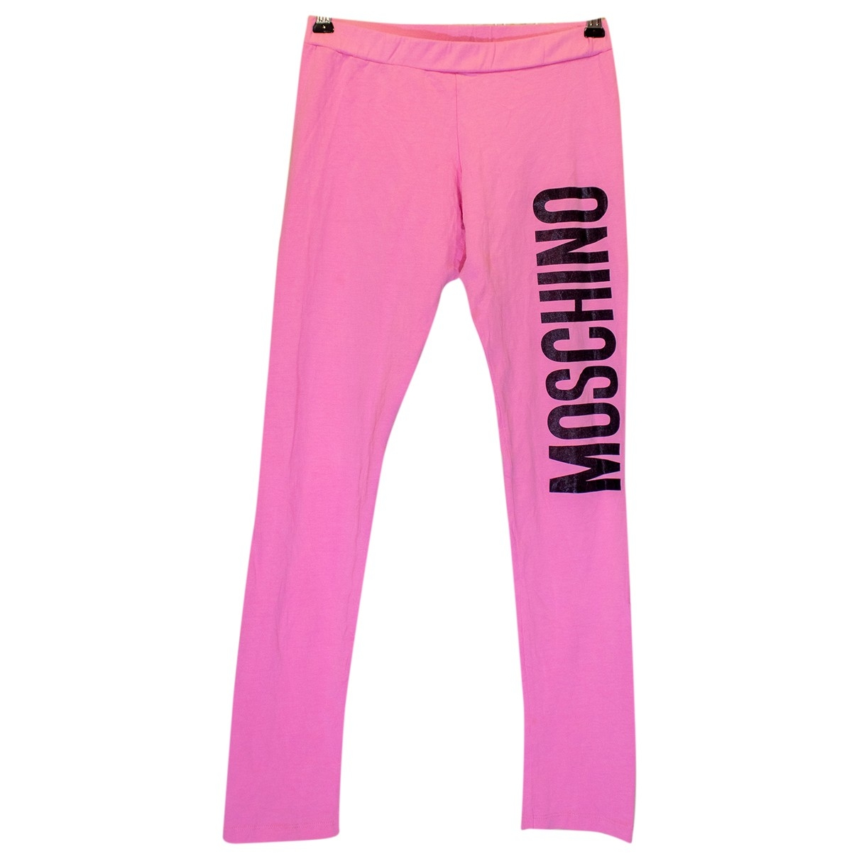 Moschino \N Pink Cotton Trousers for Women 46 IT