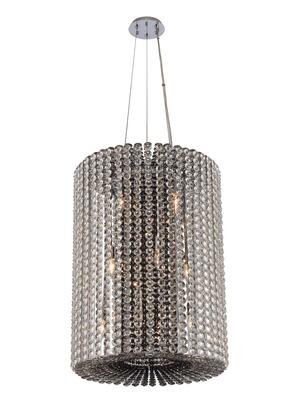 Anello 031450-010-FR000 12-Light Foyer Pendant in Chrome Finish with Firenze Mixed