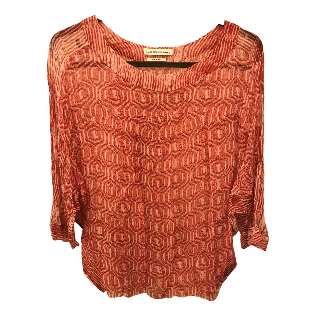 Isabel Marant Etoile N Red Silk  top for Women 38 FR