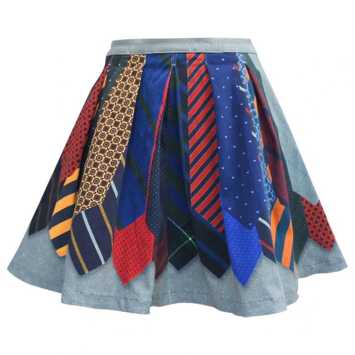 Non Signé / Unsigned \N Multicolour Denim - Jeans skirt for Women XS International