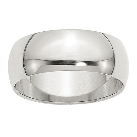 8MM Sterling Silver Wedding Band, 9 , No Color Family