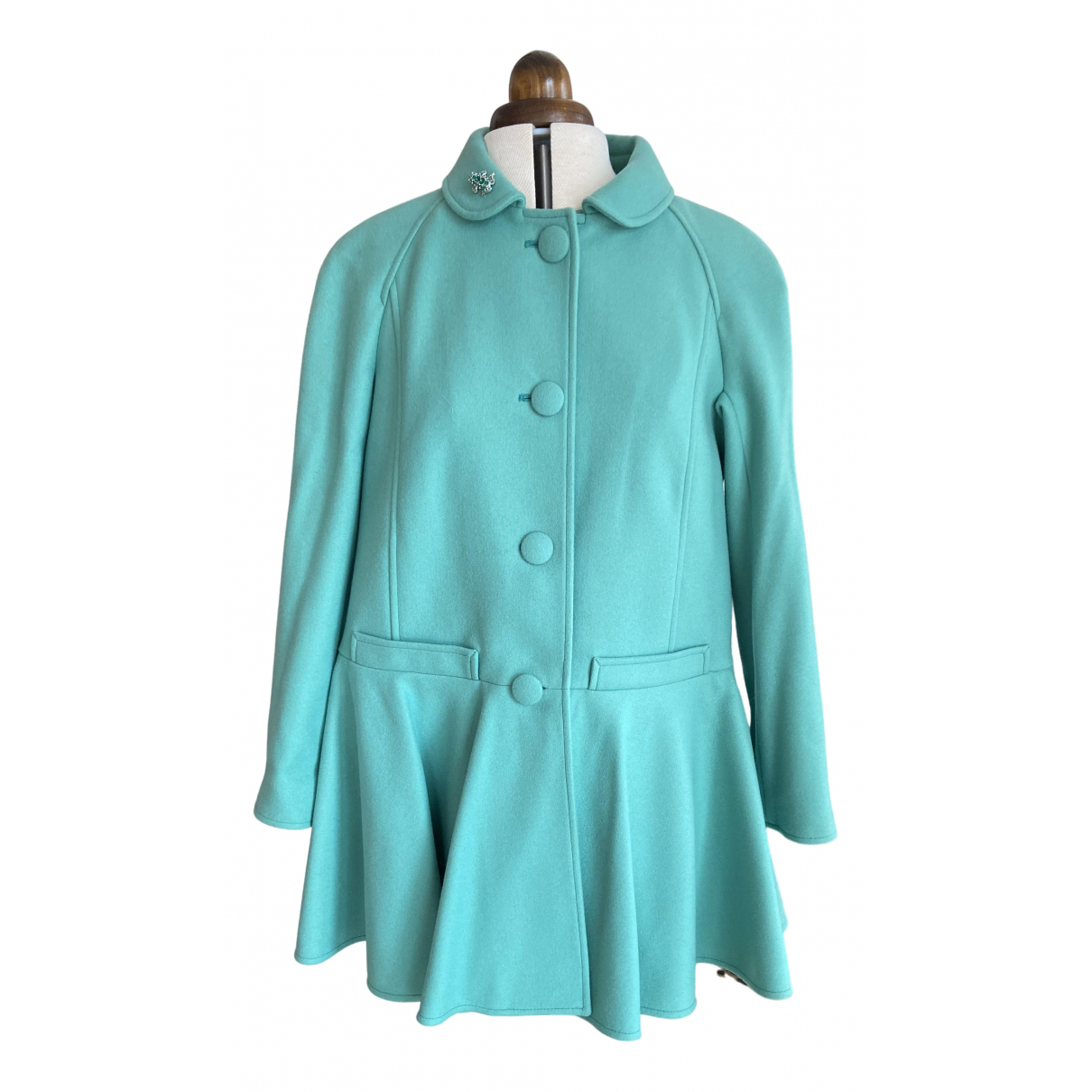 Red Valentino Garavani N Green Wool coat for Women 42 FR