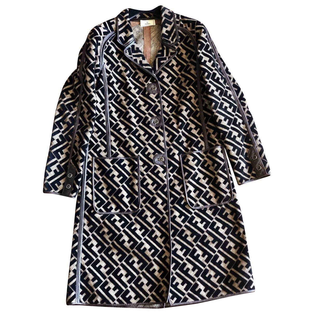 Fendi - Manteau   pour femme en coton - marron