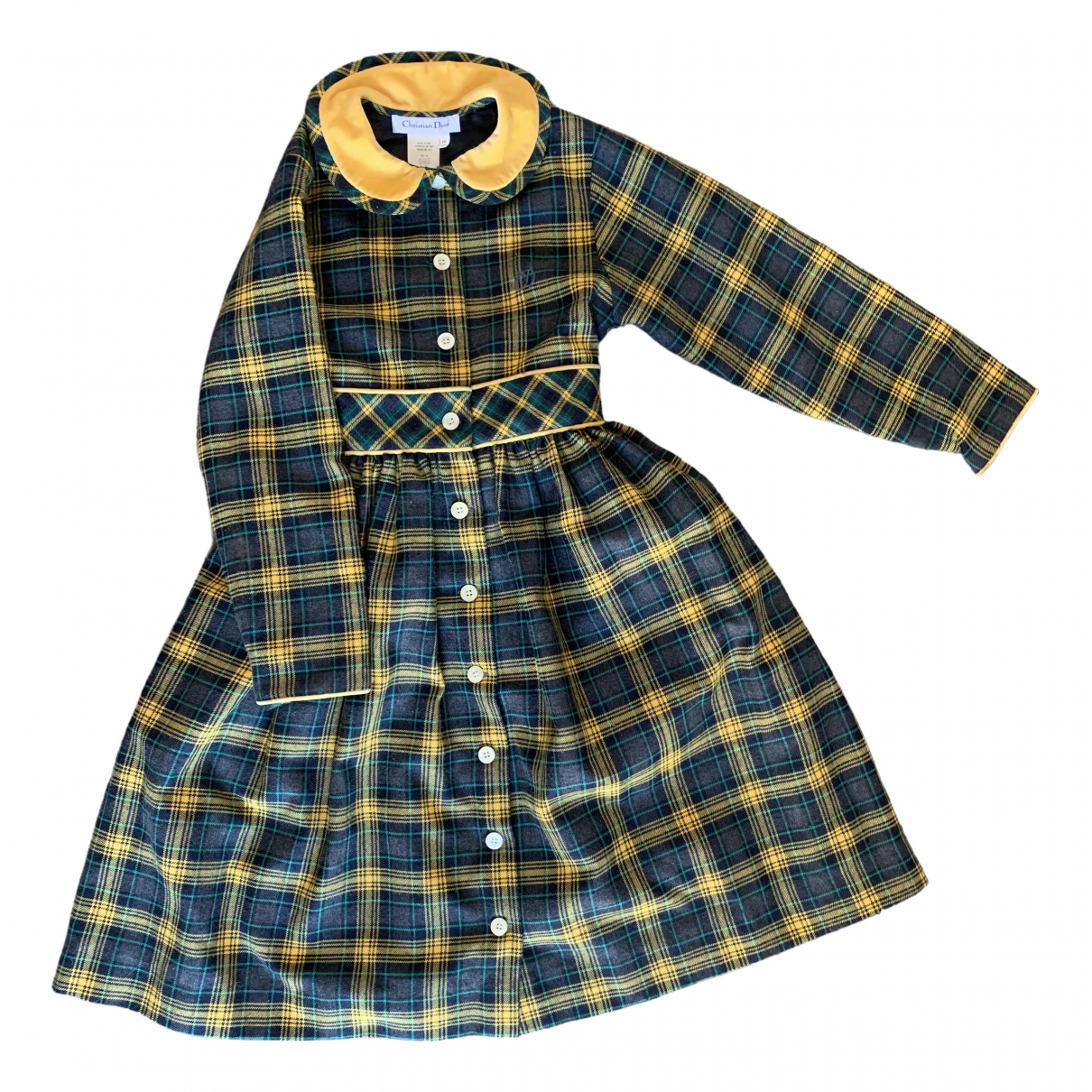 Dior \N Yellow Wool dress for Kids 10 years - up to 142cm FR