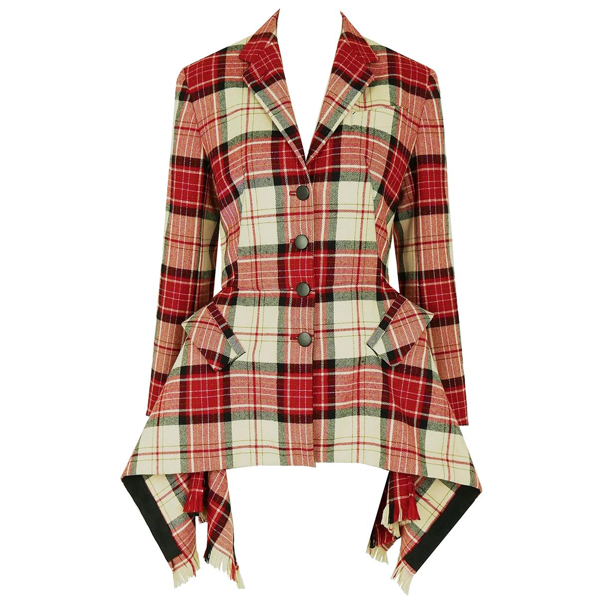 Jean Paul Gaultier \N Jacke in  Rot Wolle