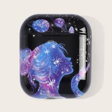 1 Stueck Airpods Huelle mit Galaxie Muster