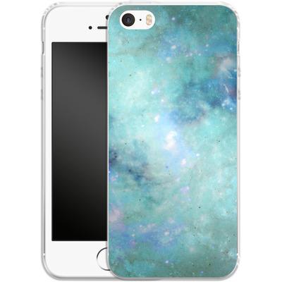 Apple iPhone 5 Silikon Handyhuelle - Abstract Galaxy - Light Blue von Barruf