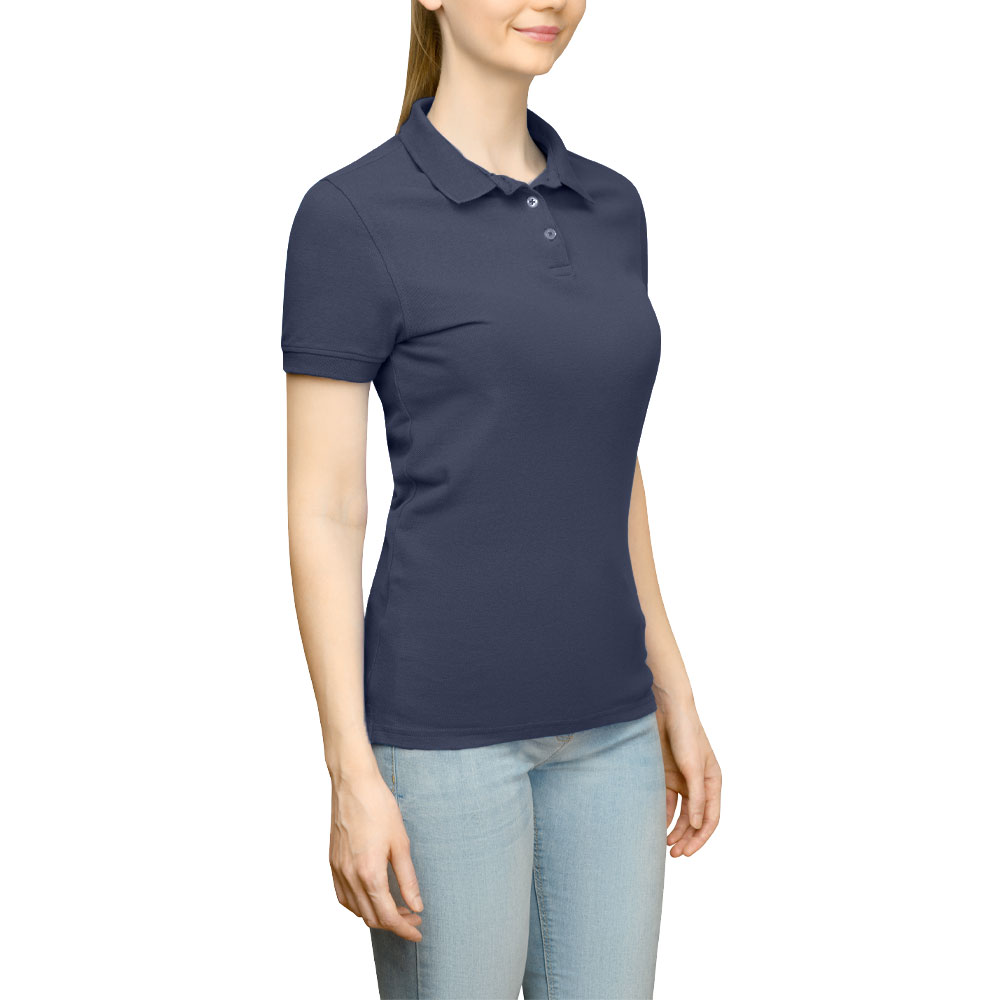 Page & Tuttle Solid Jersey Polo Golf Shirt Navy- Womens- Size XXXL