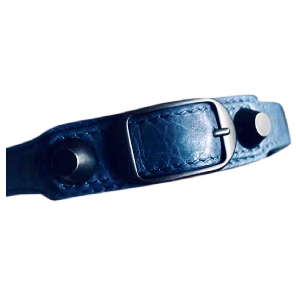 Balenciaga \N Armband in  Marine Leder