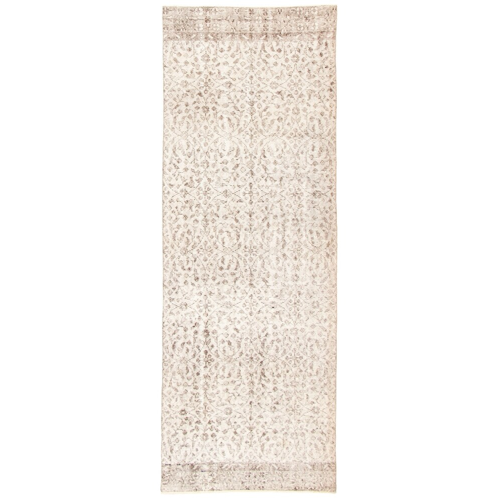 ECARPETGALLERY Hand-knotted Color Transition Light Grey Wool Rug - 3'1 x 8'8 (Light Grey - 3'1 x 8'8)