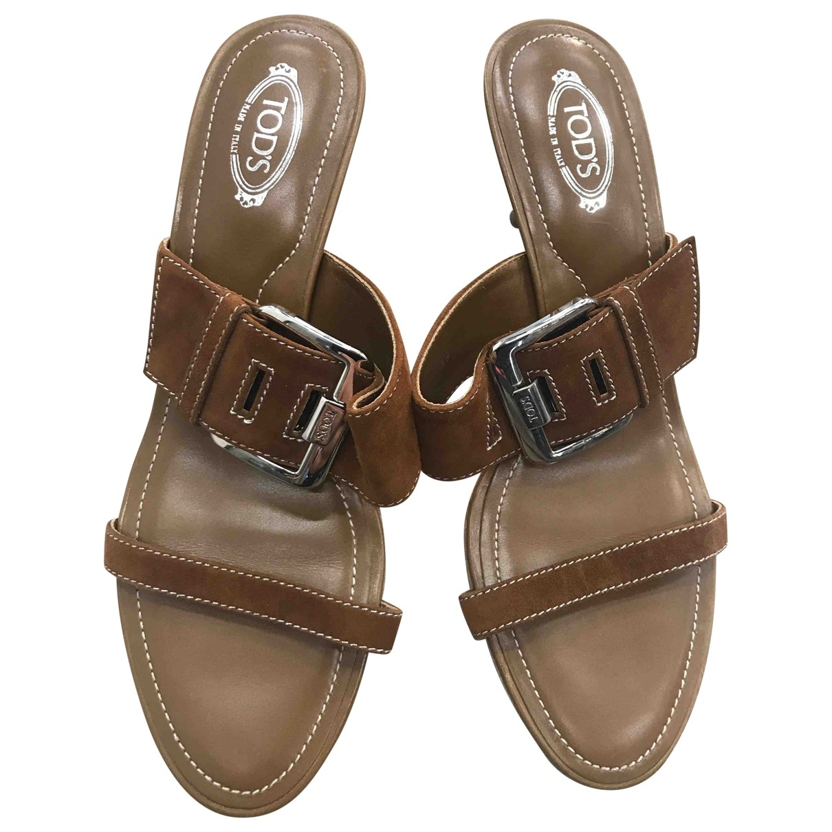 Tod's \N Brown Suede Sandals for Women 39 EU