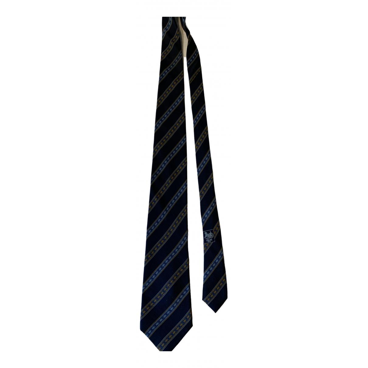 Celine - Cravates   pour homme en soie - marine