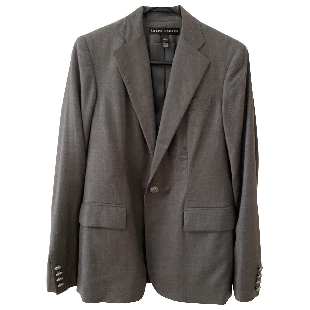 Ralph Lauren \N Jacke in  Grau Wolle