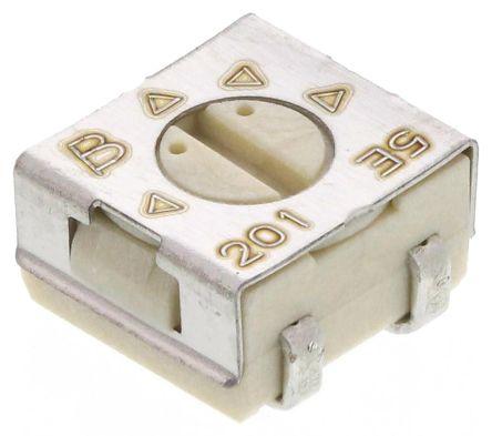 Bourns 200Ω, SMD Trimmer Potentiometer 0.25W Top Adjust , 3314 (5)