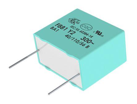 KEMET 680nF Polypropylene Capacitor PP 1 kV dc, 440 V ac ±10% Tolerance Through Hole R47 Series (880)