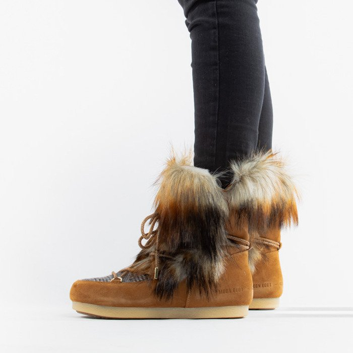 Moon Boot Far Side High Faux Fox Fur 24201200 001