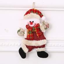 1 pieza colgador de arbol de navidad con monigote de nieve