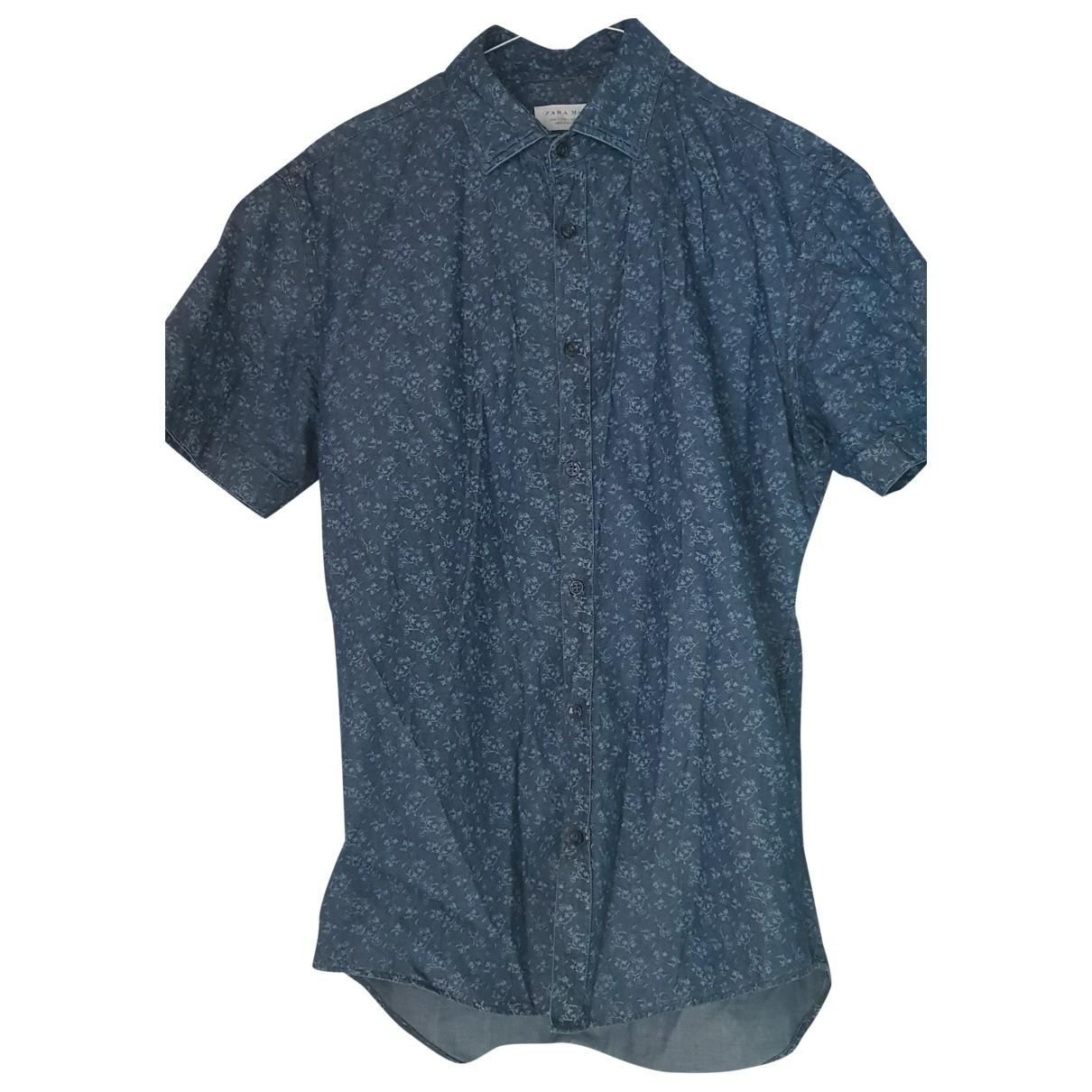 Zara \N Blue Cotton Shirts for Men S International