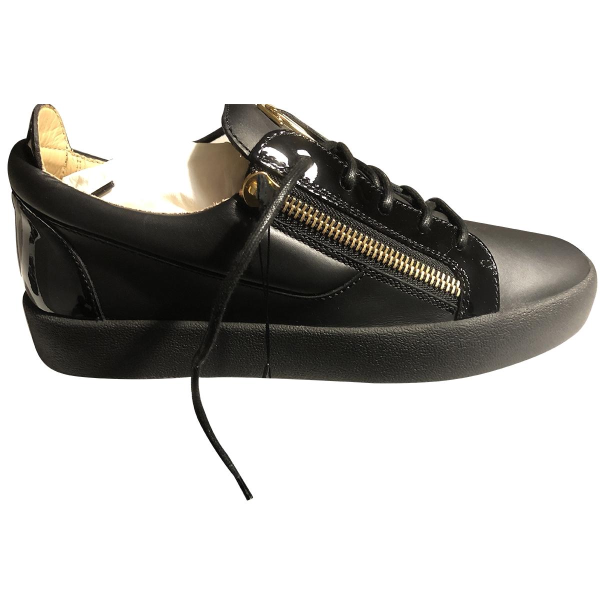 Giuseppe Zanotti - Baskets   pour homme en cuir - noir