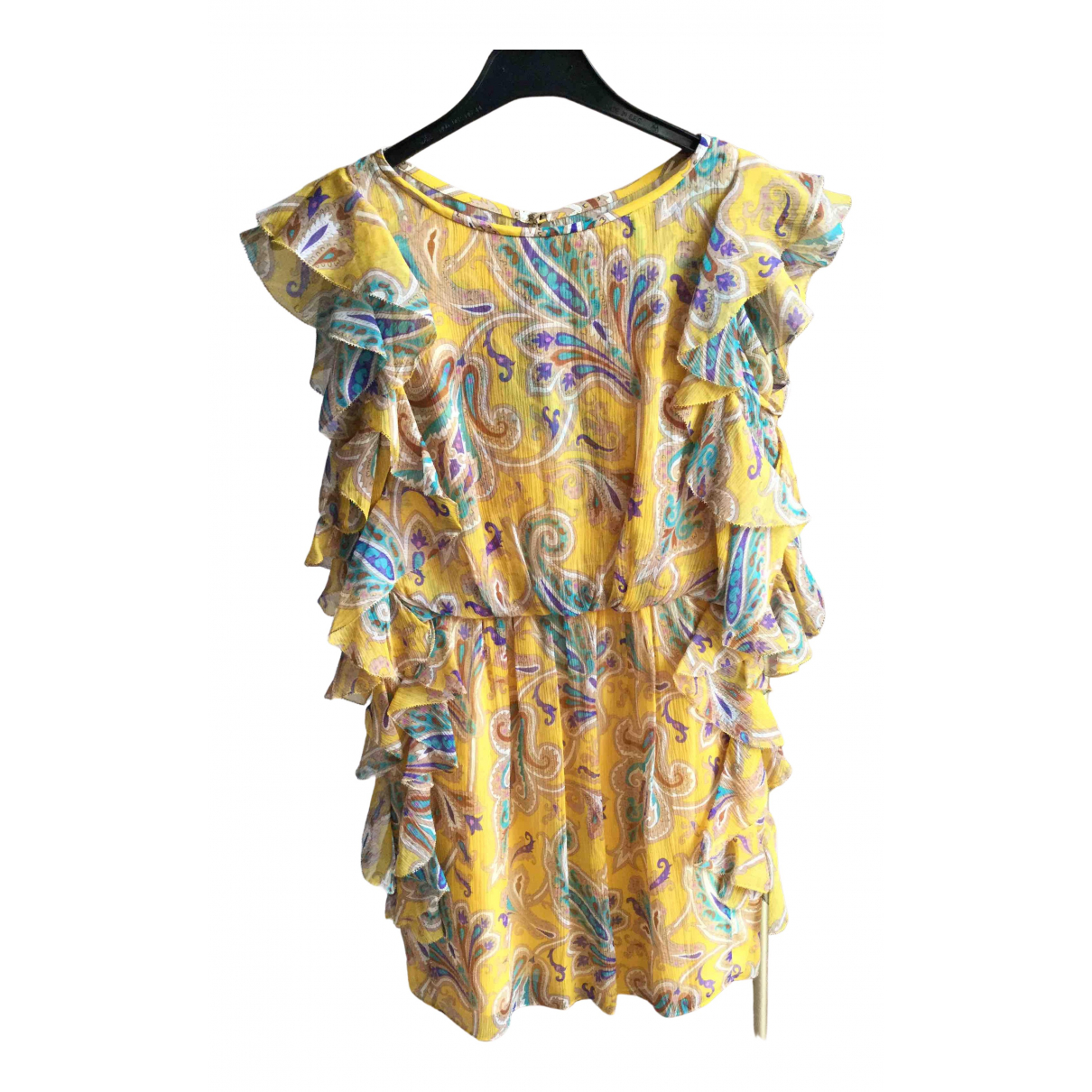 Tibi \N Kleid in  Gelb Seide
