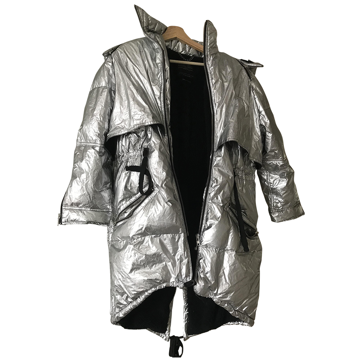 All Saints \N Silver coat for Women 10 UK