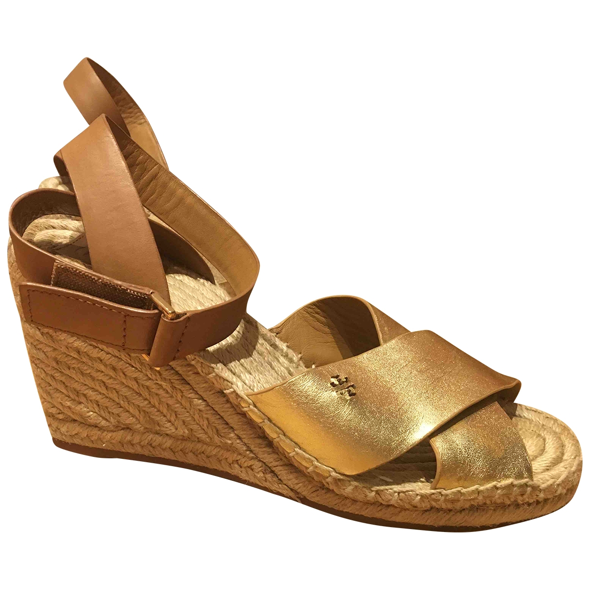 Tory Burch \N Gold Leather Sandals for Women 8 US