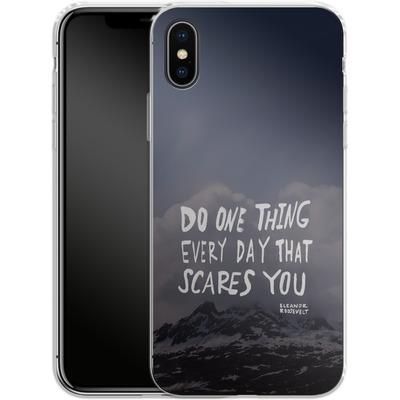 Apple iPhone X Silikon Handyhuelle - Scares You von Leah Flores