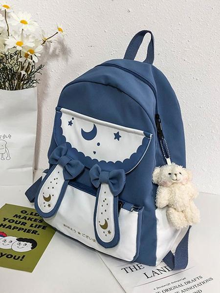Milanoo Sweet Lolita Handbag Bows PU Leather Backpack