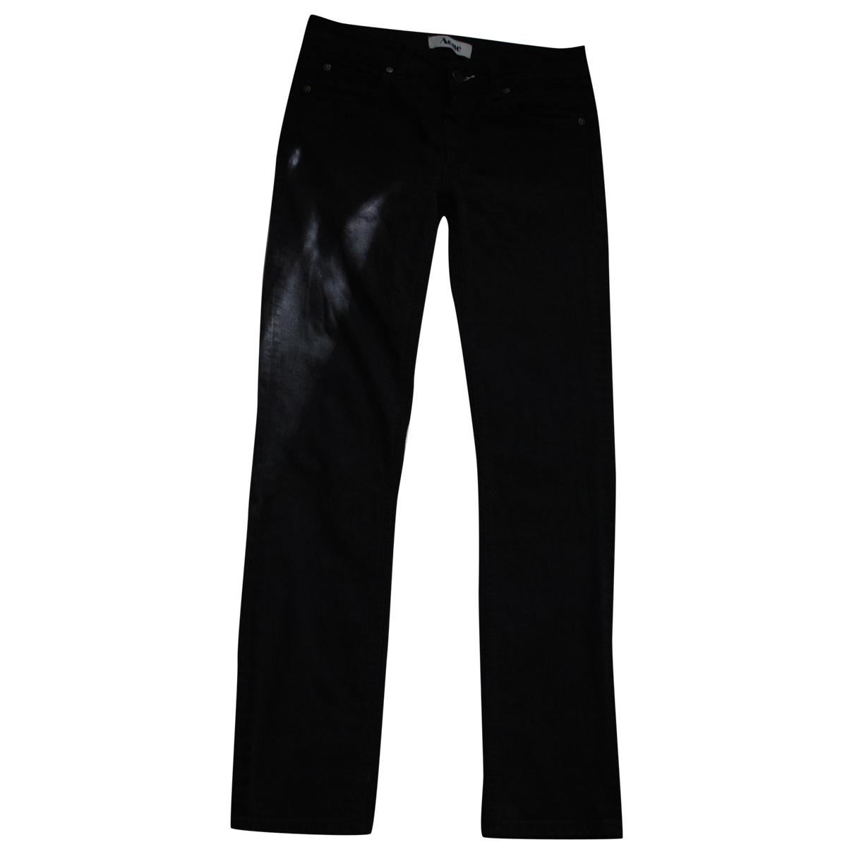 Acne Studios \N Black Cotton - elasthane Jeans for Women 28 US