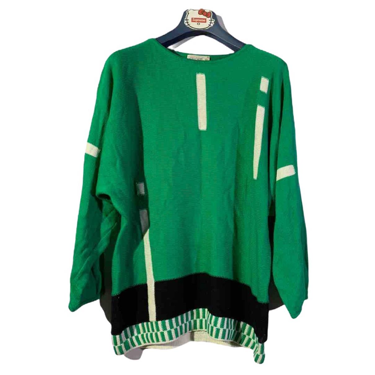 Gianni Versace \N Green Cotton Knitwear for Women 3 0-5