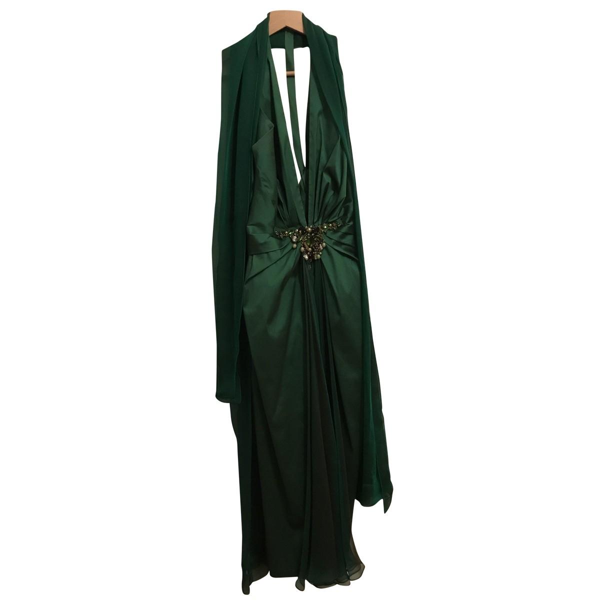 Talbot Runhof - Robe   pour femme en soie - vert