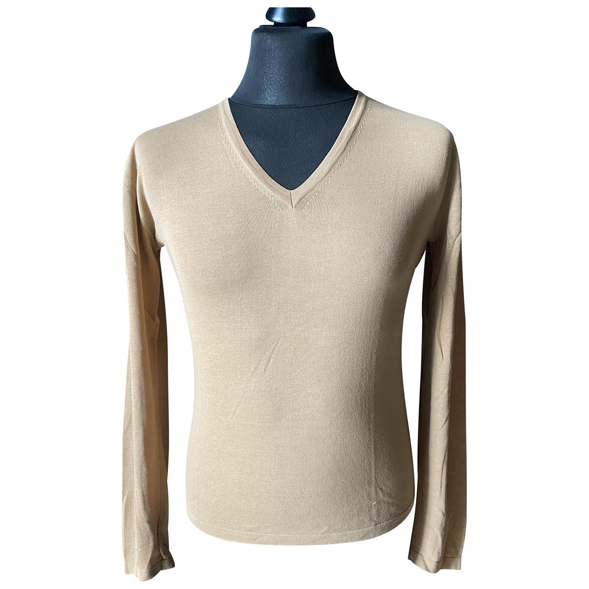 Gucci \N Pullover.Westen.Sweatshirts  in  Kamel Seide