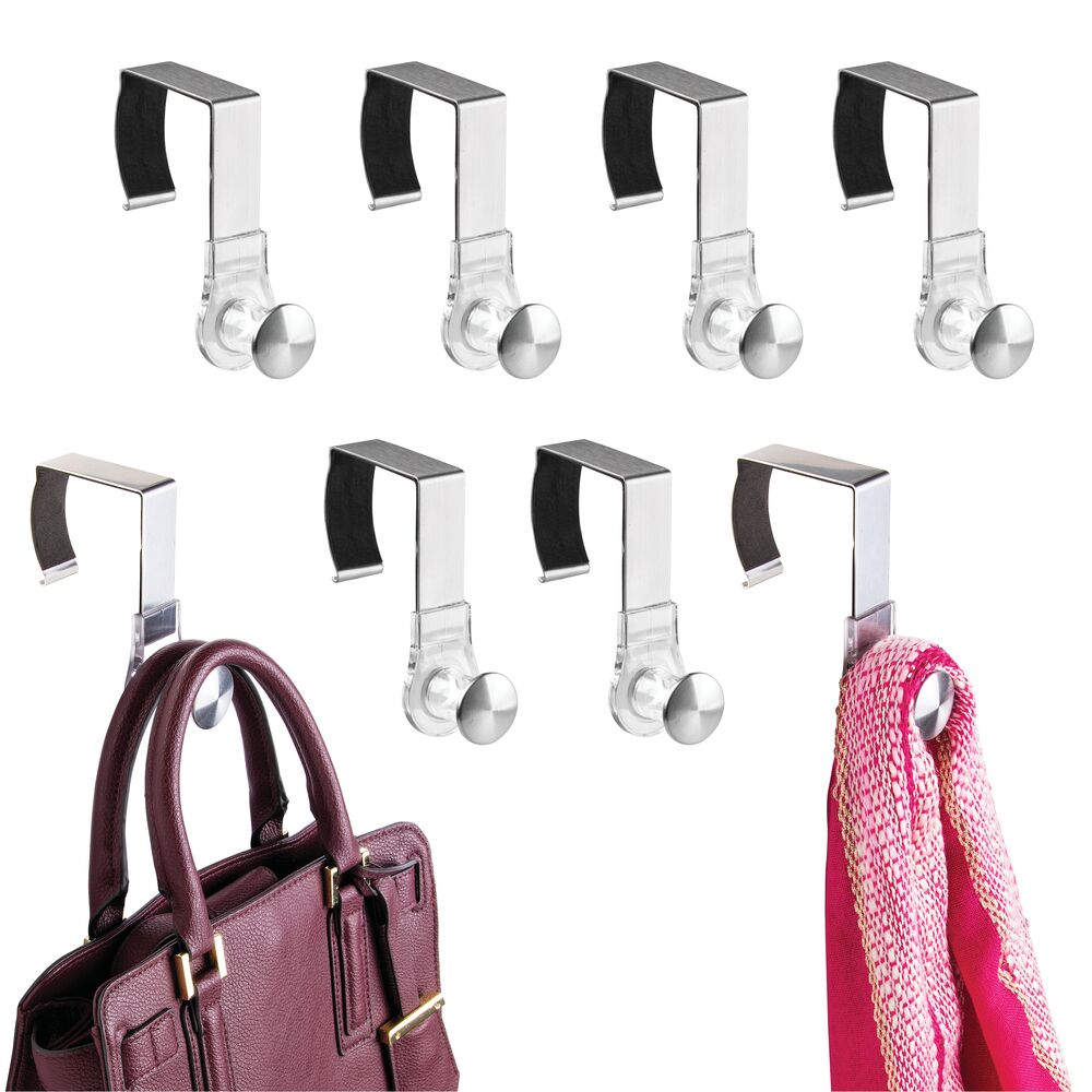Cubicle Partition Coat Hook - Hanging Storage Rack -  in Silver, 3.9