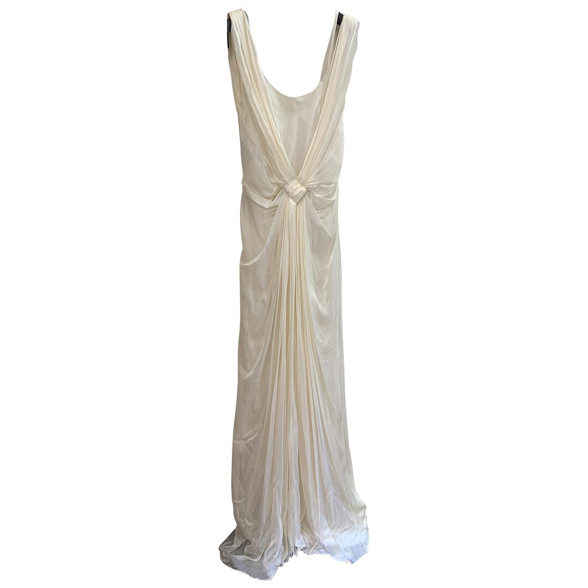 Alberta Ferretti \N Kleid in  Ecru Seide