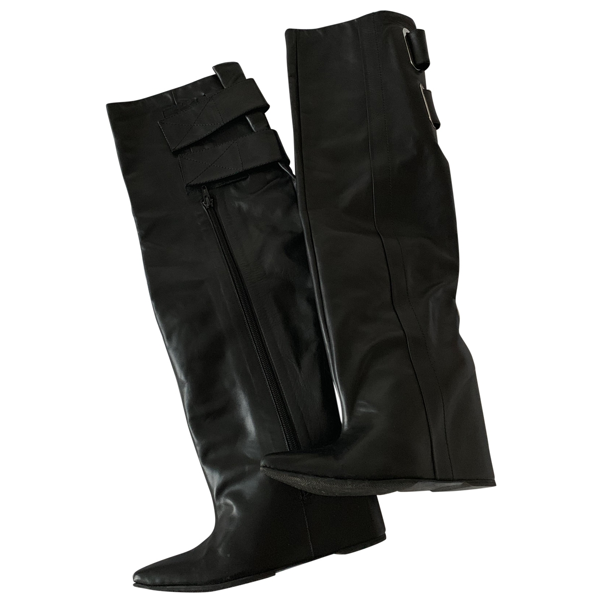 Balenciaga \N Black Leather Boots for Women 38 EU