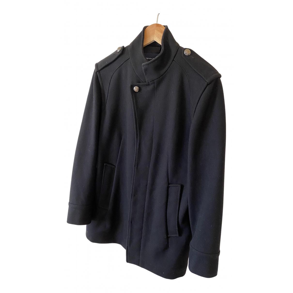 French Connection - Manteau   pour homme en laine - noir