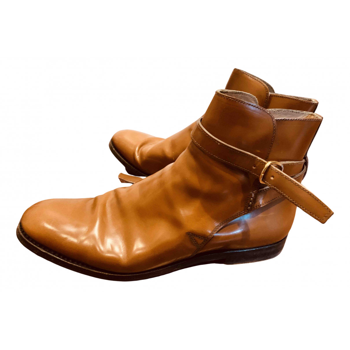 Church's N Brown Leather Ankle boots for Women 40.5 EU