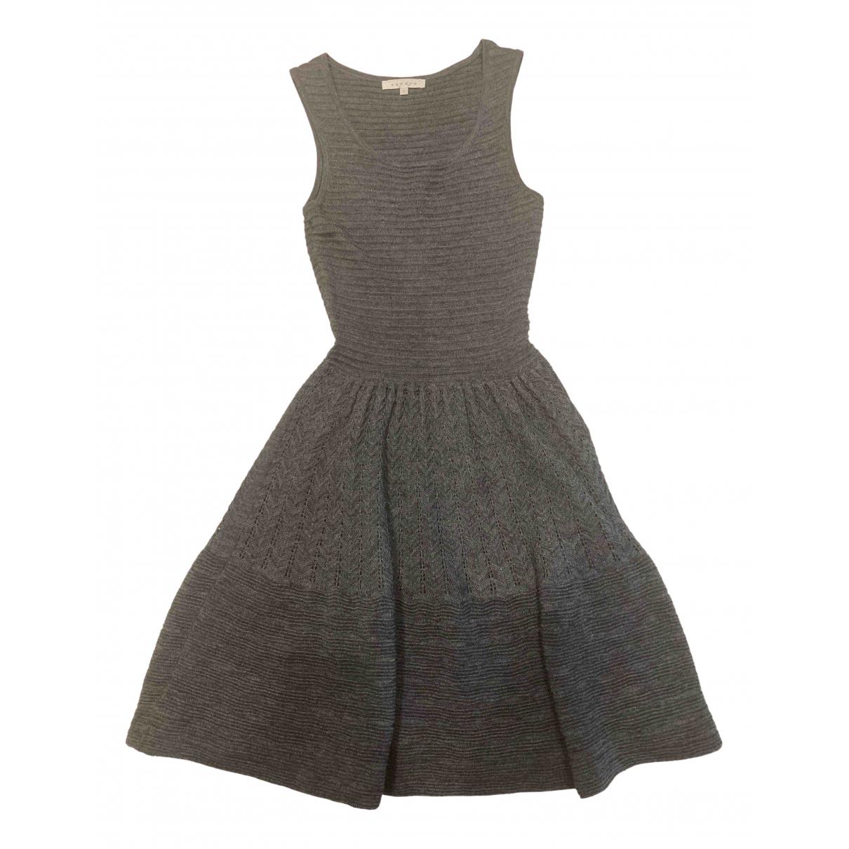Sandro \N Grey Wool dress for Women 1 0-5