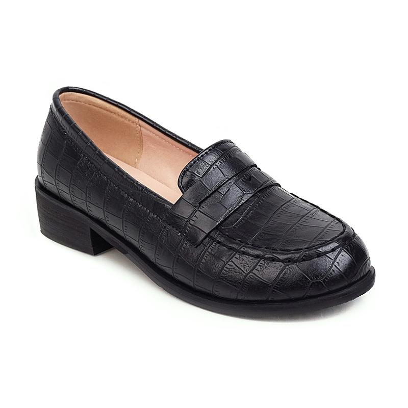 Ericdress Block Heel Round Toe Slip-On Casual Thin Shoes