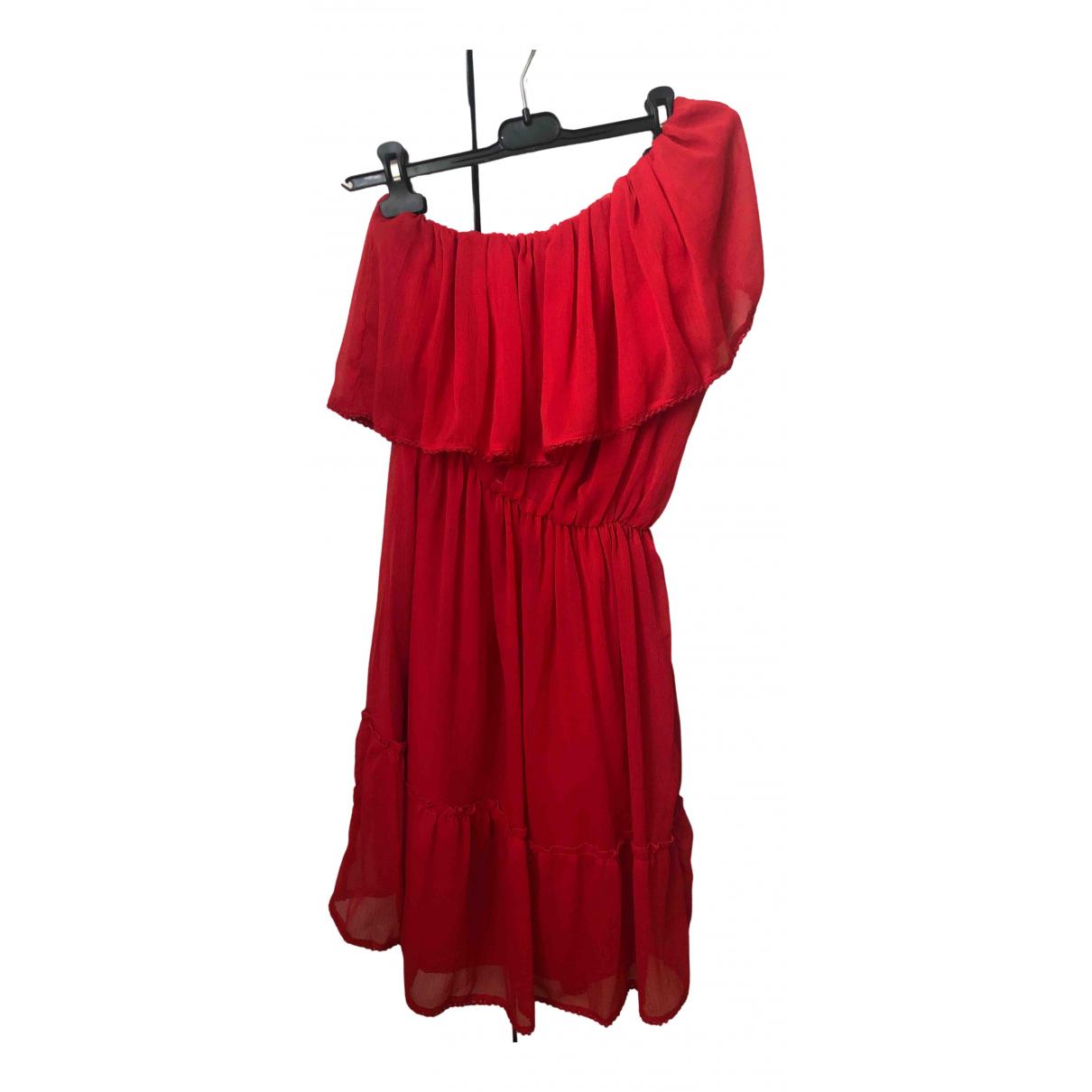 Naked & Famous \N Kleid in  Rot Viskose
