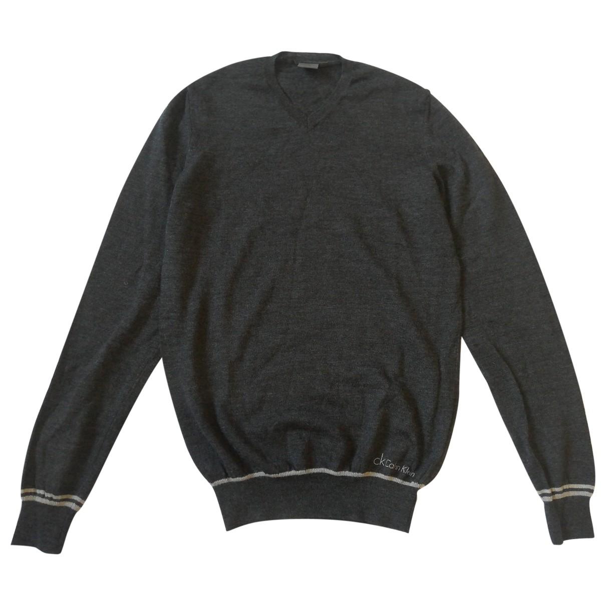 Calvin Klein \N Pullover.Westen.Sweatshirts  in  Anthrazit Wolle