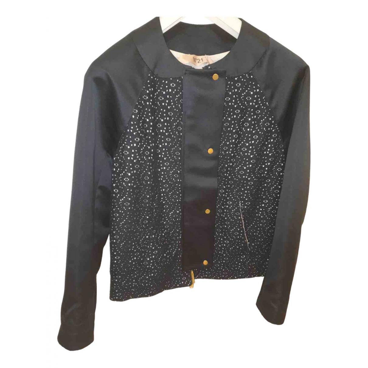 N°21 - Veste   pour femme en coton - noir